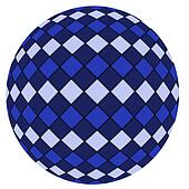 Blue ball isolated on a white backg