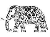 art Indian elephant.