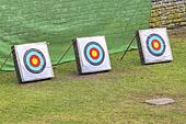 three archery targets
