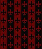Black and Red Fleur De Lis Textured Fabric Background