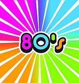 Vector 80s Vintage Color Background