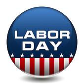 American Labor Day Badge