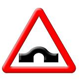 Hump bridge traffic sign