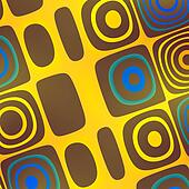 Yellow Blue Abstract Art Background - Funky