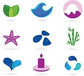 Wellness and relaxation icons