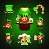 st.Patrick's Day's set with horseshoe
