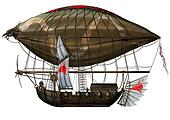 old military fantastic Zeppelin