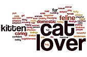 Cat lover word cloud