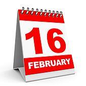 Calendar. 16 February.