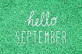 Hello September greeting