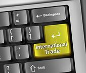 Keyboard Illustration International Trade