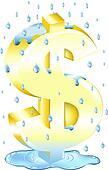 Dollar Sign In The Rain