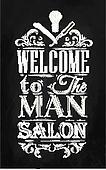 Poster Barbershop chalk