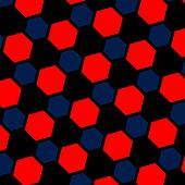 Abstract blue red illustration.