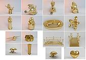 Big 3d collection of golden objects