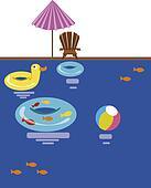 Swimming pool. Vector illustration