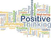 Positive thinking background concept