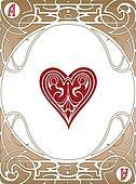 Heart Ace Card
