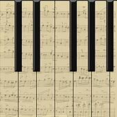music on notes vector