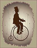 Retro bike and a gentleman
