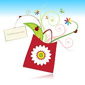 Summer gift with card for your text