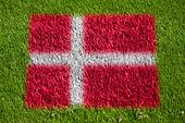 flag of denmark on grass