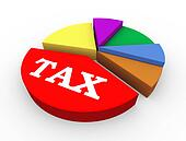 3d tax pie chart presentation