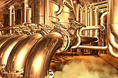 Big pipeline in the abstract refinery or in the brewery