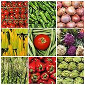 vegetables collage
