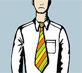 Sad business man with creative tie.