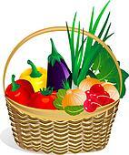 vegetables in the basket2