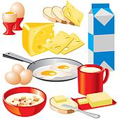 Dairy Products Clip Art - Royalty Free - GoGraph