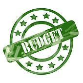 Green Weathered Budget Stamp Circles and Stars