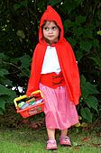 Little girl with Red Riding Hood costume