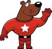 Superhero Bear Waving