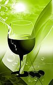 Grape and glass