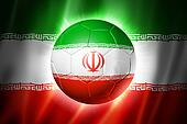 Soccer football ball with Iran flag