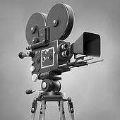Old Fashoned Movie Camera