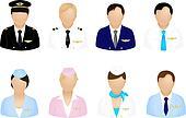 Aircraft Crew Icons