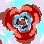 Creative flower fractal. Flat pic.