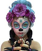 Little Sugar Skull Girl, 3d CG CA