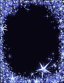 New Year\'s Eve frame with stars
