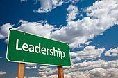 Leadership Green Road Sign