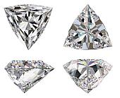 Diamond three star isolated