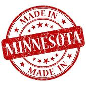made in Minnesota red round grunge isolated stamp