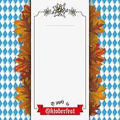 Oktoberfest Edelweiss Foliage Centre Banner Ribbon