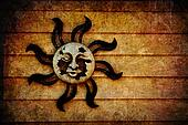 Pagan Sun Symbol background with Texture Added