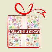 Happy Birthday Represents Congratulation Present And Gift