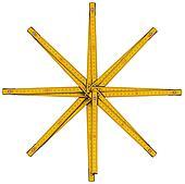 Wooden Folding Ruler Star Shaped