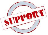 Rubber Stamp Support
